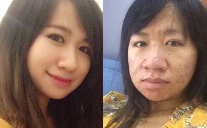 """2 bức ảnh đối lập trả lời cho câu hỏi: """"Phụ nữ xấu nhất khi nào?"""""""