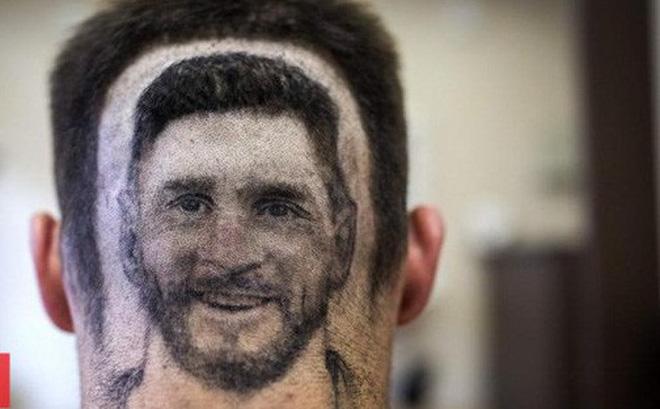 Dịch vụ khắc hình Messi, Ronaldo sau đầu nở rộ mùa World Cup