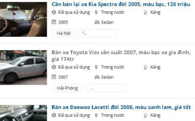 """15 triệu/lần """"mông má"""" xe taxi cũ thành xe """"nhà đi"""" bán trăm triệu: Người mua ô tô cũ cần biết"""