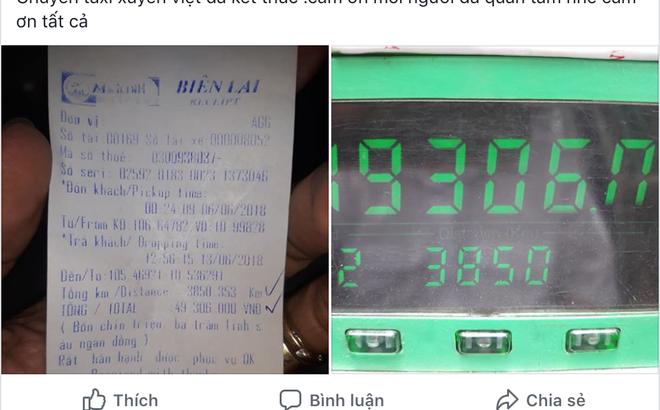 [Chuyến đi phá mọi kỷ lục của ngành taxi] Chạy một mạch 3.850 cây số khứ hồi Nghệ An - Hà Nội, hết 49 triệu tiền cước.,