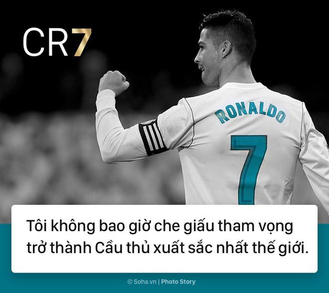 [PHOTO STORY]: Những phát ngôn ngông cuồng và đầy cảm hứng của Cris Ronaldo khiến dân mạng phải chia sẻ 8