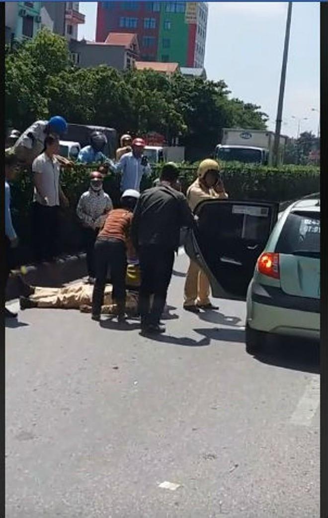 Một CSGT Hưng Yên bị thương nặng sau va chạm với xe tải trên Quốc lộ 5 - Ảnh 1.