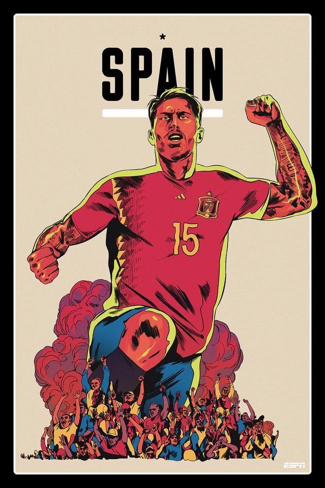 Ronaldo, Messi, Salah đẹp lồng lộng trong bộ poster cổ động World Cup 2018 - Ảnh 15.