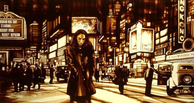 Những tác phẩm của Max Zorn - họa sĩ trẻ chỉ thích vẽ tranh bằng băng dính - Ảnh 1.