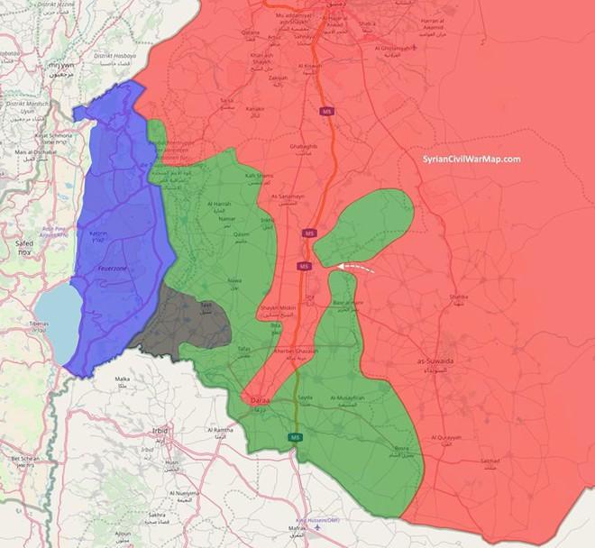 """Một nhóm """"nổi dậy ôn hòa"""" lớn đầu hàng quân đội Syria ở Daraa"""