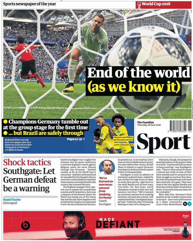Báo chí quốc tế chấn động khi Đức thảm bại: 'Sự kết thúc của thế giới chúng ta từng biết' 6