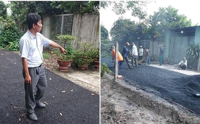 Vụ công an còng tay người làm đường giúp dân: Người thân có thửa đất trên con đường này?