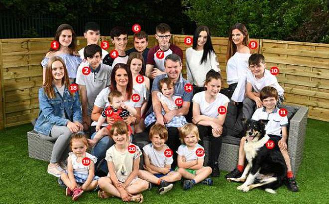 Choáng với sinh hoạt của gia đình đông con nhất nước Anh: 400 triệu mua tã, 15 triệu cắt tóc và nhiều chi phí 'khủng' khác
