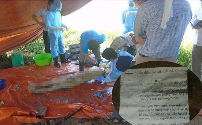 Vụ khai quật thi thể nữ kế toán: Người lạ rải tờ rơi đầy đường trong ngày đưa tang
