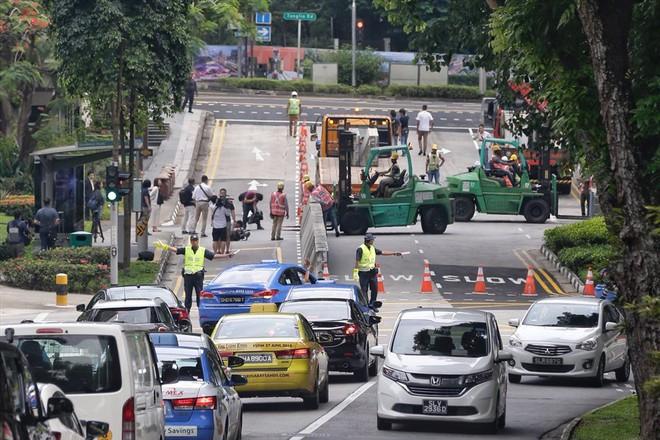 Singapore tất bật lập chốt an ninh, phân luồng giao thông trước thượng đỉnh Mỹ - Triều - Ảnh 4.