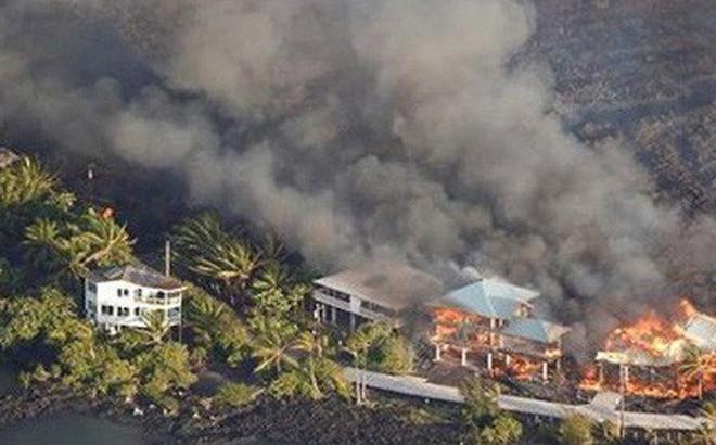 Núi lửa Kilauea phun trào phá hủy 600 ngôi nhà ở Hawaii (Mỹ)