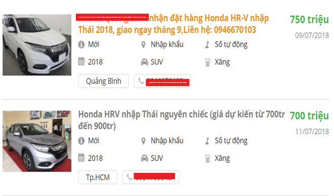 Sự thật sau lời rao bán Honda HR-V rẻ hơn 10 - 50 triệu đồng của đại lý - Ảnh 1.