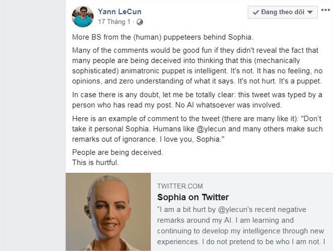 Giám đốc AI của Facebook tuyên bố: Sophia chỉ là con rối - nữ robot đáp trả thế nào? - Ảnh 5.