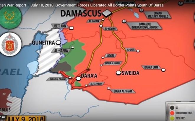 Quân đội Syria sắp đè bẹp thánh chiến tại Daraa, Israel ngăn cản bằng mọi cách