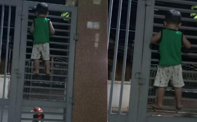 Nghe theo lời rủ rê của bạn, cậu bé 3 tuổi quyết leo cửa sắt đi chơi và cái kết tẽn tò