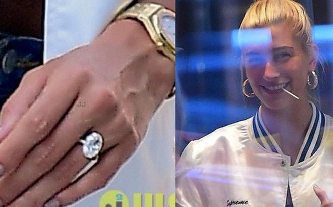 Nhẫn đính hôn 7 carat trị giá 9 tỷ đồng của Justin dành cho Hailey chói đến mức lóa mắt trên đường phố