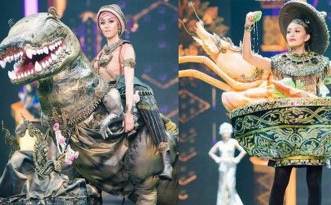 Dàn thí sinh Hoa hậu Hòa bình Thái Lan: Người cưỡi khủng long, kẻ biến thành tô tom yum chua cay trên sân khấu