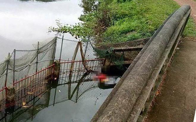Phát hiện thi thể đôi nam nữ dưới ao nước ở Hà Nội, trên bờ có 2 xe máy