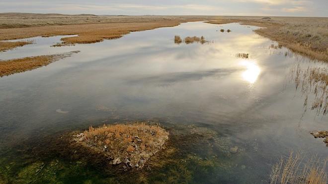 Con sông Chagan ô nhiễm chất phóng xạ nặng nề. Nguồn: Gizmodo