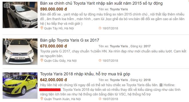 Toyota Yaris đời cũ rao bán rầm rộ, giá đắt hơn bản mới vừa về Việt Nam - Ảnh 1.