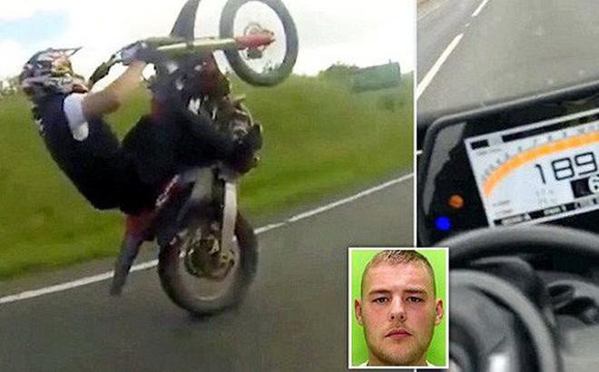 """Thanh niên đăng clip bốc đầu xe máy tốc độ """"bàn thờ"""" lên mạng rồi nhận ngay chục nghìn like cùng 21 tháng tù"""