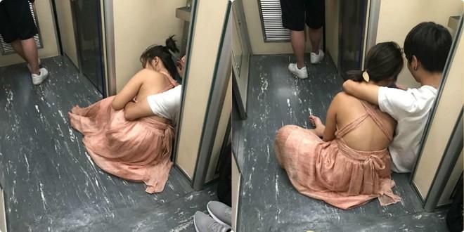 Đôi nam nữ Việt thản nhiên yêu nhau trước nhà vệ sinh trên tàu Đài Loan 2