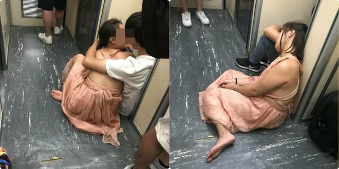 Đôi nam nữ Việt thản nhiên yêu nhau trước nhà vệ sinh trên tàu Đài Loan 3