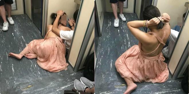 Đôi nam nữ Việt thản nhiên yêu nhau trước nhà vệ sinh trên tàu Đài Loan 4