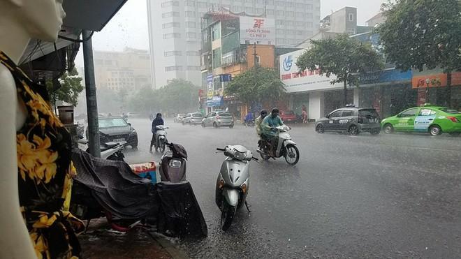 Xuất hiện 10 phút, hơn 1000 bình luận: Bức ảnh độc chỉ có trong cơn mưa Hà Nội chiều nay - Ảnh 4.