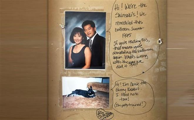 Cải tạo nhà sau 5 năm sinh sống, cặp vợ chồng phát hiện tin nhắn thú vị của chủ cũ đã viết từ 23 năm trước