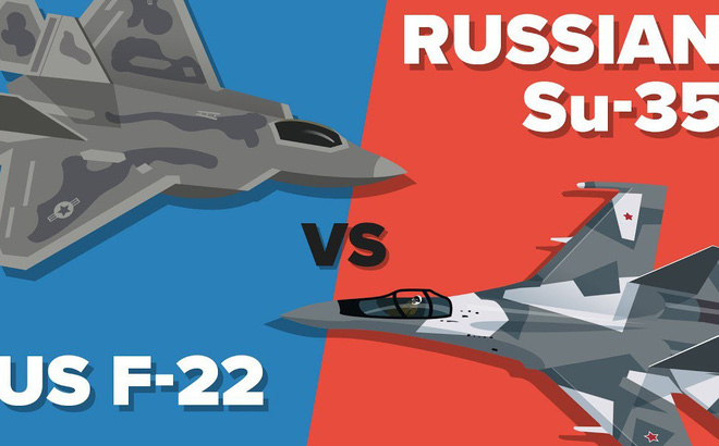 """Su-35 vs F-22 và F-35: Cuộc đấu giữa """"thợ săn"""" và 2 """"kẻ săn mồi lén đi theo"""""""