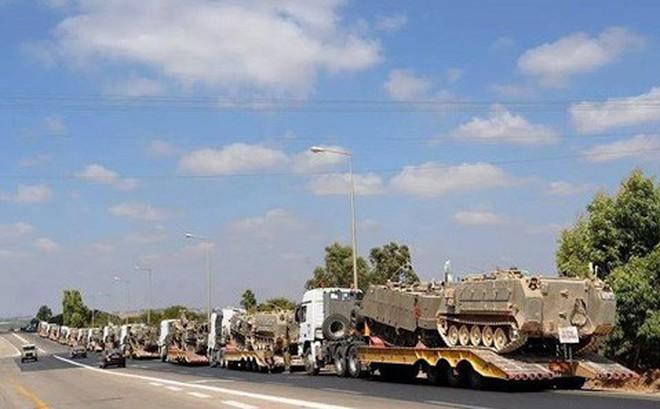 Xe bọc thép Israel rầm rập kéo về dải Gaza - Sắp bùng nổ chiến sự lớn?