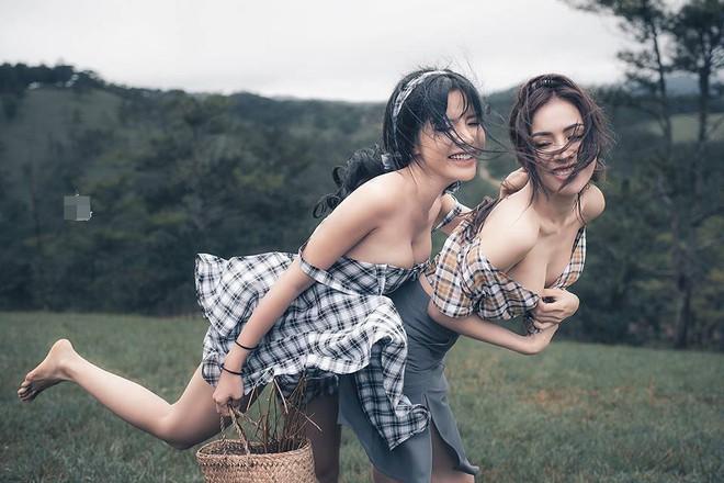 Chủ nhân ý tưởng lý giải vụ việc 2 cô gái mặc hở hang, dùng thân thể bôi bẩn Đà Lạt - Ảnh 1.