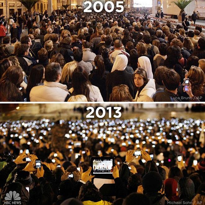 2 bức ảnh này sẽ cho bạn thấy thế giới đã thay đổi như thế nào từ khi có smartphone - Ảnh 4.