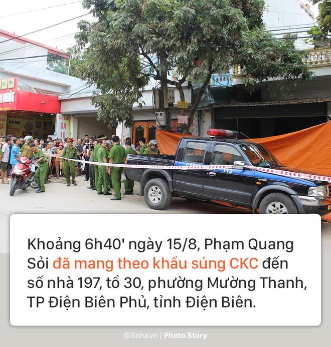 [PHOTO STORY] Hiện trường vụ hung thủ dùng súng CKC bắn chết vợ chồng giám đốc ở Điện Biên - Ảnh 1.