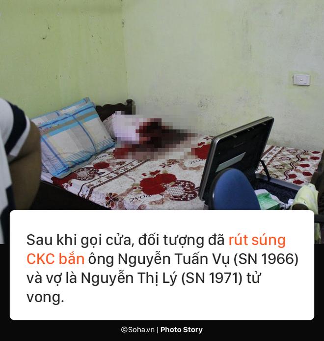[PHOTO STORY] Hiện trường vụ hung thủ dùng súng CKC bắn chết vợ chồng giám đốc ở Điện Biên - Ảnh 2.