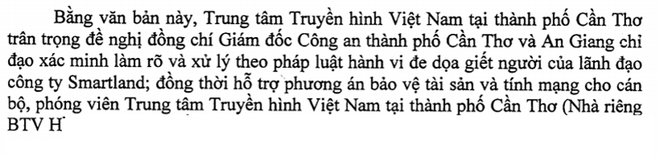 VTV tại Cần Thơ đề nghị công an bảo vệ nhà báo sợ truy sát - Ảnh 1.