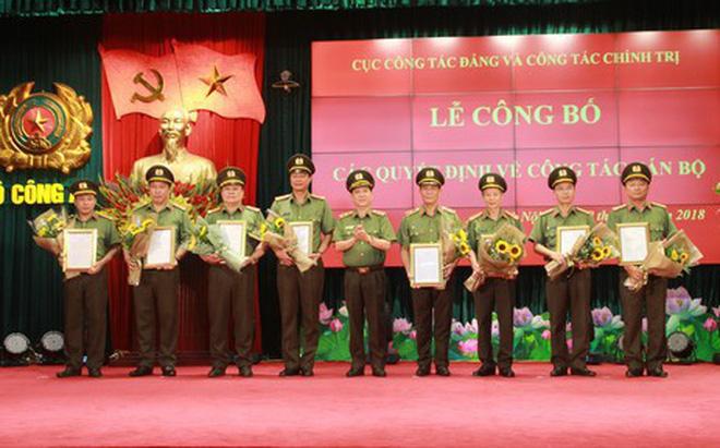 Cục Công tác Đảng và Công tác Chính trị công bố các quyết định cán bộ