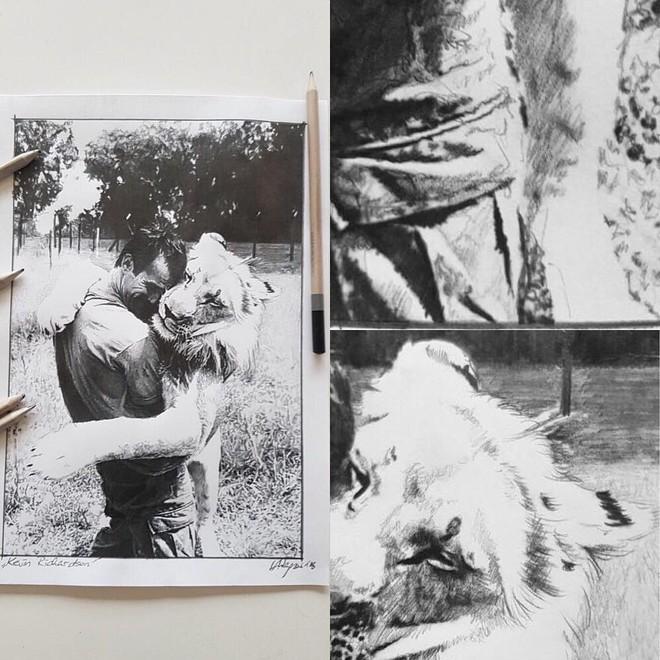 Những hình ảnh thân mật giữa Kevin và sư tử. Ảnh: Intagram