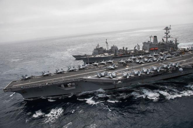 Mỹ dàn trận tàu sân bay, quần tụ về Thái Bình Dương, sẵn sàng tham chiến với Nga - Trung? - Ảnh 2.