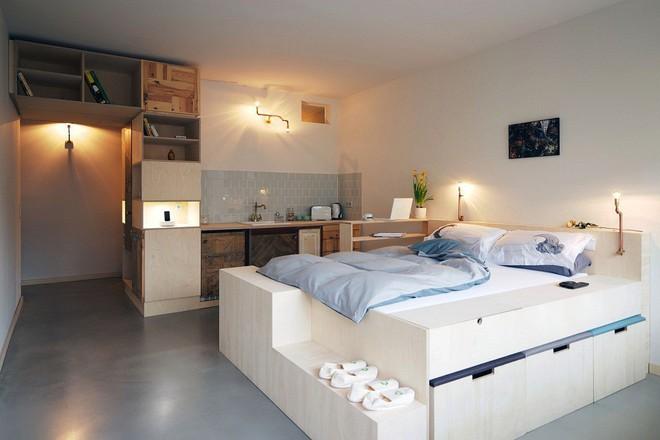 Phòng ngủ nhỏ rộng thênh thang với 8 kiểu giường lưu trữ siêu hoàn hảo dưới đây - Ảnh 6.