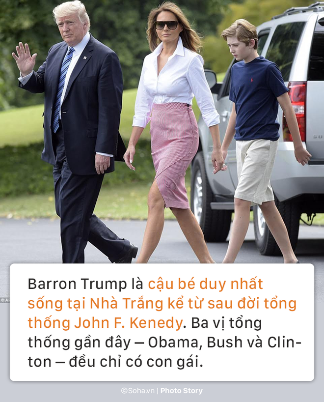 [PHOTO STORY] Con trai út của TT Trump: Thích vest, hay chơi golf, 12 tuổi cao gần 1,9m