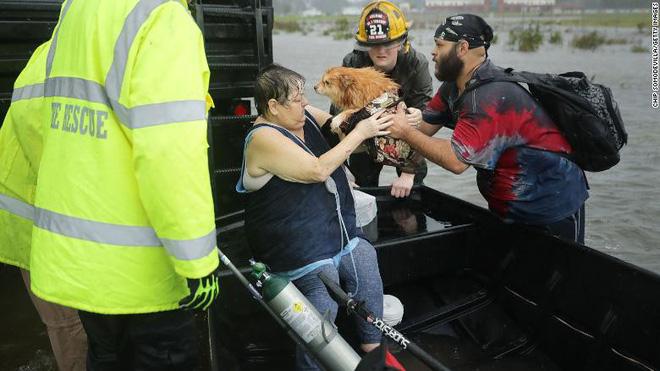 Bão quái vật Florence đổ bộ vào Mỹ, mất điện diện rộng, cảnh báo lũ lụt thảm khốc - ảnh 9