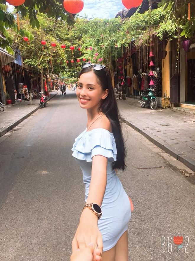 Hình ảnh hoa hậu Việt Nam 2018 Trần Tiểu Vy trước khi đăng quang.
