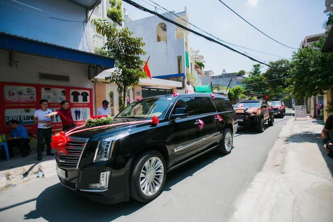 Siêu xe Khủng long Mỹ dẫn đầu đoàn rước dâu hoành tráng ở Quảng Ninh - Ảnh 11.
