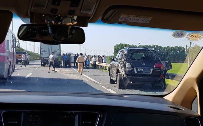 Vụ tài xế Lexus bị tông chết khi làm việc với CSGT: Chủ ô tô biển tứ quý 8 có mặt trên xe
