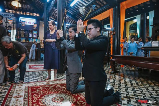 Ngọc Sơn lần đầu tổ chức lễ nhận con nuôi Duy Cường tại chùa - Ảnh 9.