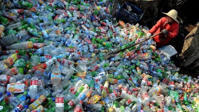Phế liệu nhựa được thu gom để tái chế