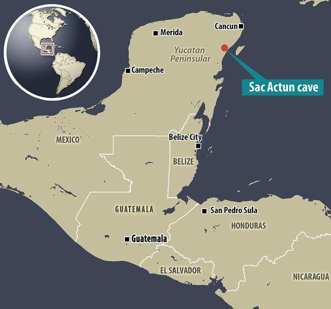 Khu vực hang động dài nhất thế giới trên bản đồ. Ảnh: Dailymail