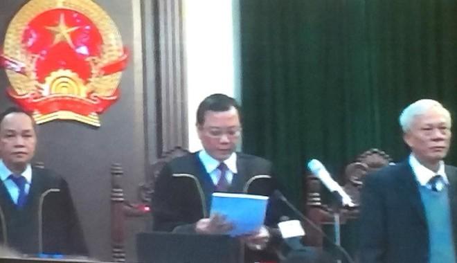 Thẩm phán bắt đầu đọc bản án cho bị cáo Đinh La Thăng, Trịnh Xuân Thanh và đồng phạm - Ảnh 1.